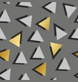 seamless pattern with golden triangles decorative vector image vector image