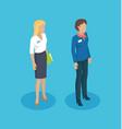 secretary woman manager set vector image