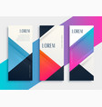 set of business style geometric banner template vector image vector image