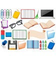 set office stationery vector image