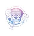 sketch hipster skull with vaporizer cigarette vector image vector image