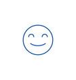 smiling emoji line icon concept smiling emoji vector image vector image