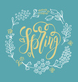 Spring lettering typography vector image vector image