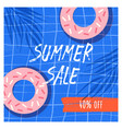 summer sale flat banner template doughnuts vector image