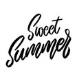 sweet summer lettering phrase on white background vector image vector image