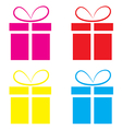 The gift box on a white background vector image