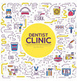 thin line dentist clinic baking brochure cards set vector image vector image