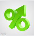 three-dimensional percent icon vector image