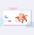 traditional turkish cuisine website landing page vector image