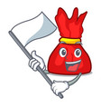 with flag wrapper candy mascot cartoon vector image