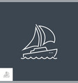 yacht related line icon vector image