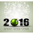 2016 Merry Christmas and Happy New Year Background vector image vector image