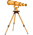 a telescope isolated vector image vector image