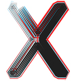 abstract font letter x vector image vector image