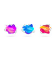 abstract modern fluid banners with gradient color vector image vector image