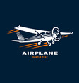airplane club logo vector image vector image