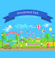 amusement and healthy park vector image