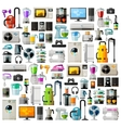 Appliances a set of colored icons Collection of vector image vector image