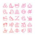 ayurveda thin line icons set outline