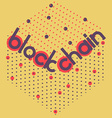 blockchain volume square vector image vector image