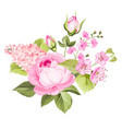 blooming spring flowers vector image vector image