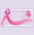 breast cancer awareness month pink ribbon flying vector image vector image
