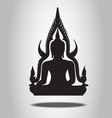 buddha silhouettes on white background vector image