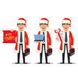 business man in santa claus costume vector image