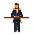 businessman sitting on chair cartoon flat vector image