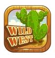 Cartoon app icon with wild west attributes vector image vector image