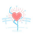 choreography concept of dancing heart vector image vector image