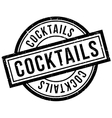Cocktails rubber stamp vector image