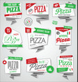 collection of pizza labels and badges vector image vector image