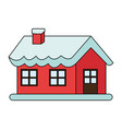 color image cartoon christmas house with snow and vector image