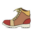 color sketch with army boots vector image vector image