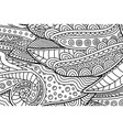 coloring book page with marine linear pattern vector image vector image