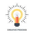 creative process icon concept vector image