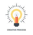 creative process icon concept vector image vector image