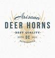 Deer Horns Vintage Retro Design Elements for vector image vector image