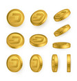 dsh dash gold coins set isolated on white vector image