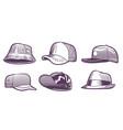 fashion hats sketch headdress design for men vector image vector image