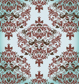 floral vintage damask background vector image vector image