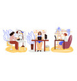 freelance people work in comfortable cozy place vector image vector image