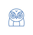 funny owl line icon concept funny owl flat vector image vector image