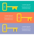 Golden keys from car house apartment Web banner vector image vector image