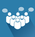 group business teamwork meeting icon vector image vector image