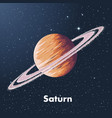 hand drawn sketch planet saturn in color vector image vector image