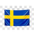 hanging flag sweden kingdom sweden vector image vector image