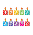 happy birthday number candles vector image