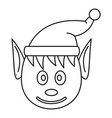 head elfin icon outline style vector image vector image